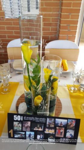 centro mesa cilindro 3 diferente tamaño velas cartuchos amarillo base espejo (9)