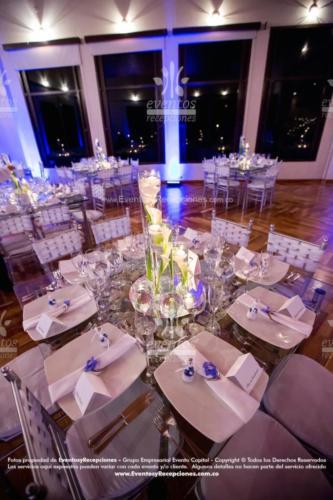 centro mesa cilindro 3 diferente tamano velas cartuchos blanco base espejo (12)