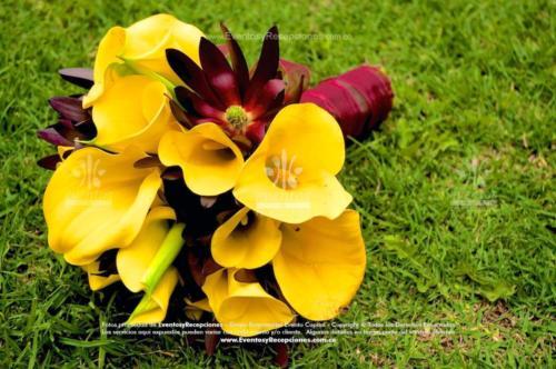 bouquet cartuchos amarillo