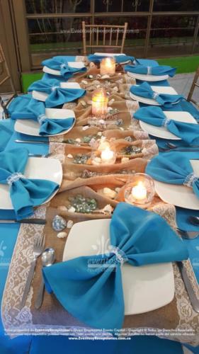 mantel base azul mar camino yute servilleta azul tematica oceano tiffany dorado (3)
