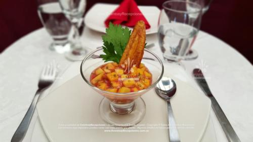 menu entrada ceviche mango