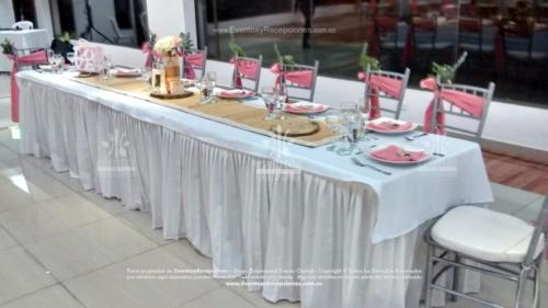 mobiliario mesa imperial faldon silla tiffany fajon palo de rosa