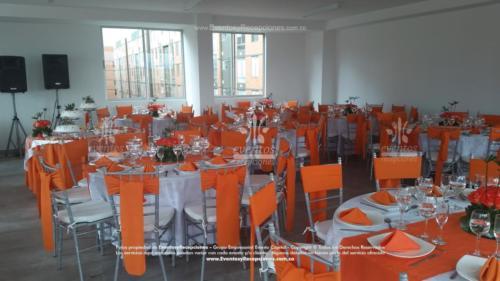mobiliario silla tiffany mesa redonda  fajon naranja