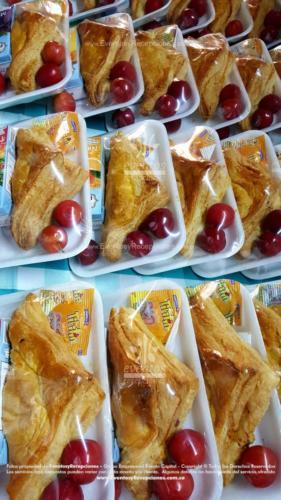 Refigerios empacados Pastel Pollo Jugo caja Fruta Golosina  (3)