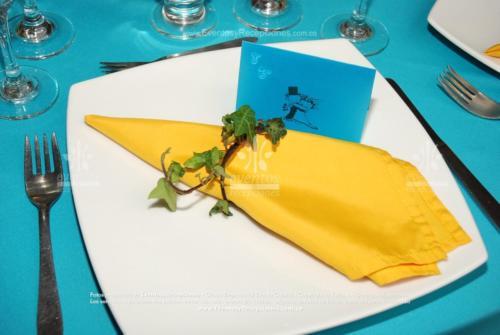 decoracion servilleta amarilla