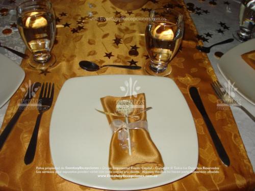 decoracion servilleta cinta de agua dorada primera comunion